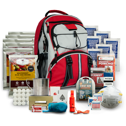 5 Day Emergency Survival Kit for 1 Person (Red Pack) - OPSGEAR