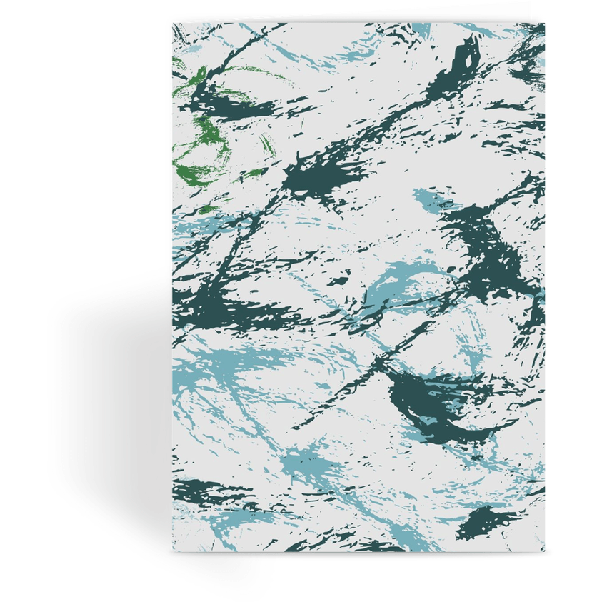 OPSGEAR:Abstract Military Blue Green CAMO Greeting Card