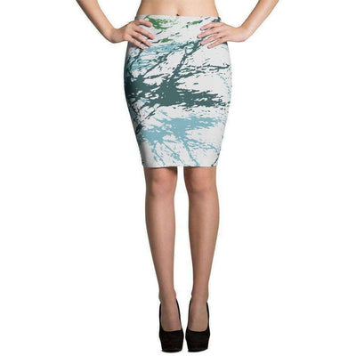 OPSGEAR:Abstract Military Blue Green CAMO Skirts