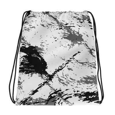 OPSGEAR:Abstract Military Snow CAMO Drawstring bag