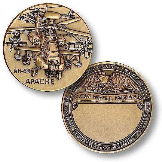 OPSGEAR:AH-64 Apache Engravable Challenge Coin