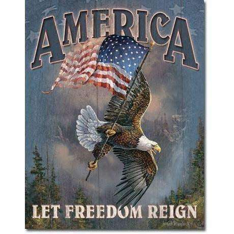 OPSGEAR:America - Let Freedom Reign Vintage Tin Sign