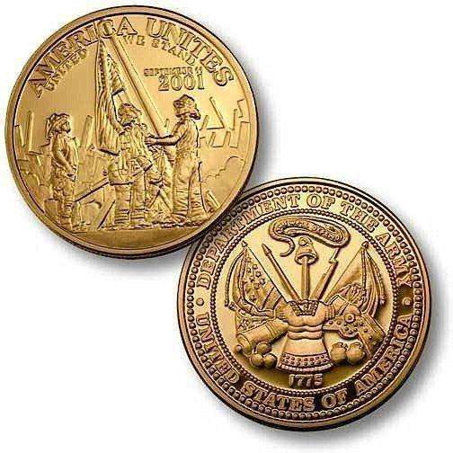 OPSGEAR:America Unites Army Challenge Coin - Bronze Antique