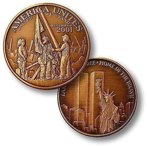 OPSGEAR:America Unites - Twin Towers Bronze Antique Coin