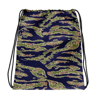 OPSGEAR:American Tiger Stripe Blue CAMO Drawstring bag