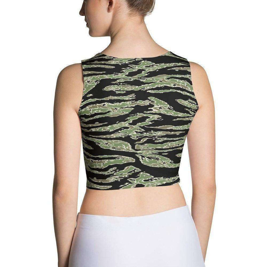 OPSGEAR:American Tiger Stripe CAMO Sublimation Cut & Sew Crop Top