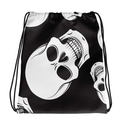 OPSGEAR:Black and White Skull CAMO Drawstring bag