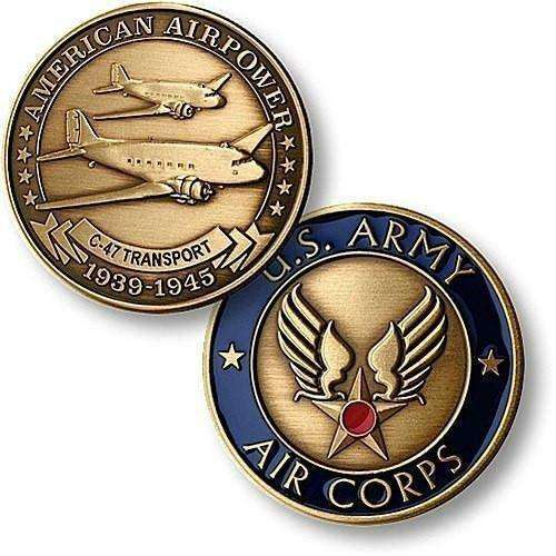 OPSGEAR:C-47 Army Air Corps Bronze Antique Coin