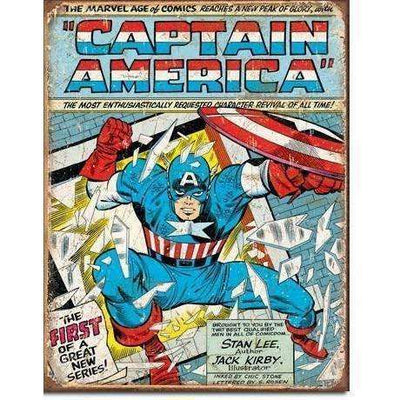 OPSGEAR:Captain America Cover - Vintage Tin Sign