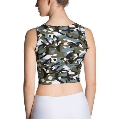 OPSGEAR:Chinese Marine Blue Green CAMO Sublimation Cut & Sew Crop Top