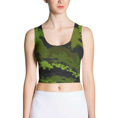 OPSGEAR:Canadian Abstract CAMO Sublimation Cut & Sew Crop Top