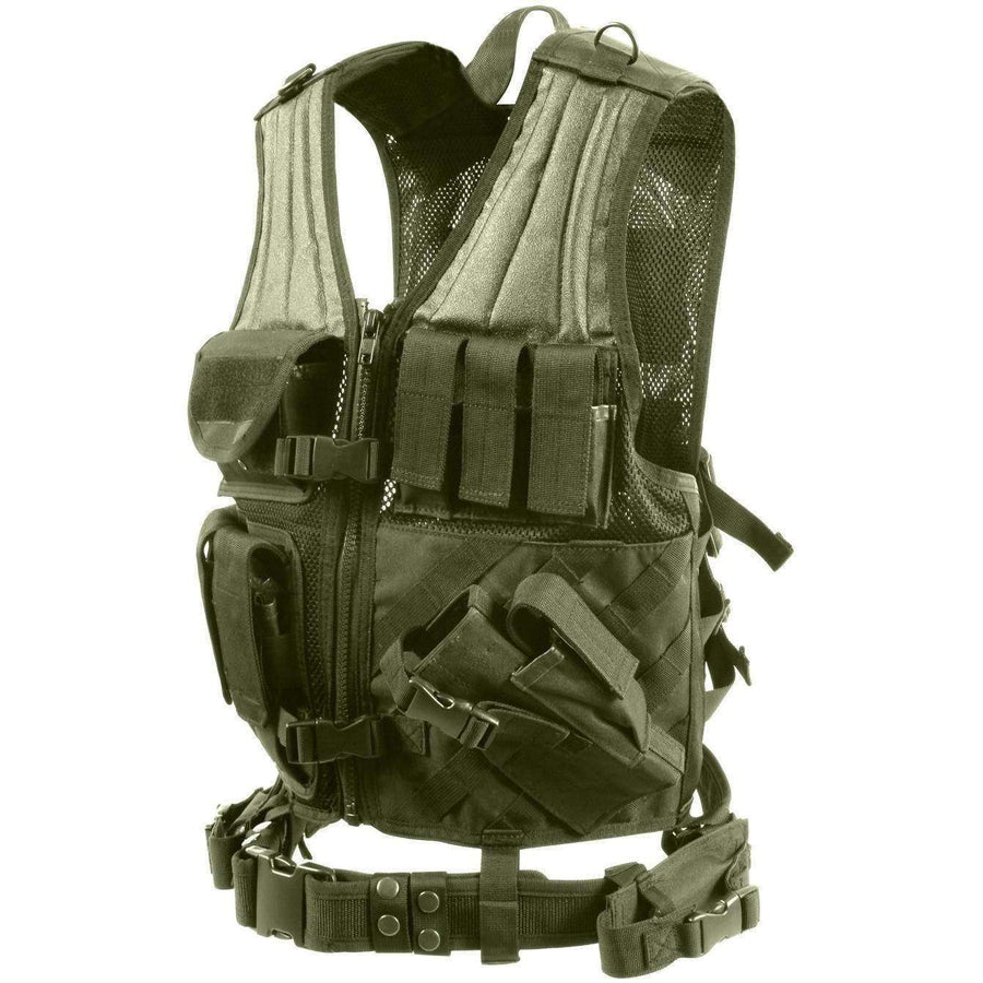 OPSGEAR:Cross Draw MOLLE Tactical Vest - Rothco
