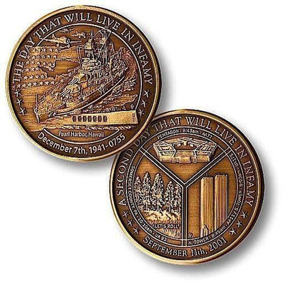 OPSGEAR:Day of Infamy Bronze Antique Coin