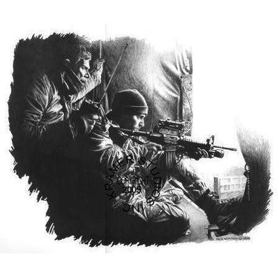 OPSGEAR:Dick Kramer Art - SEAL SNIPER - BOSNIA