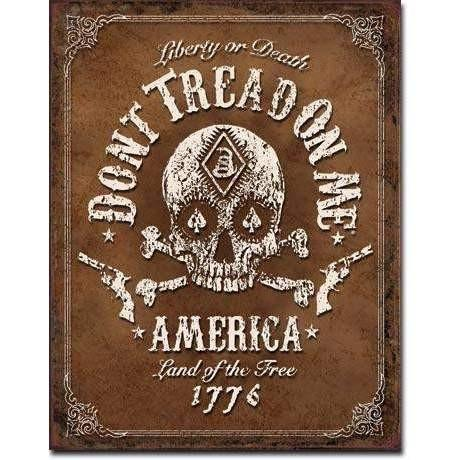 OPSGEAR:Don't Tread On Me - Black Jack Vintage Tin Sign