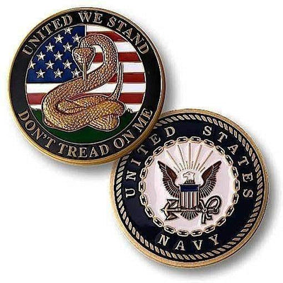 OPSGEAR:Don't Tread On Me Challenge Coin - Enamel