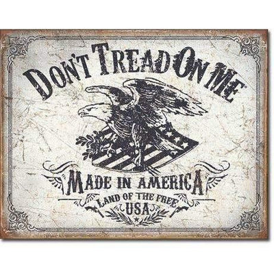 OPSGEAR:Don't Tread On Me - Land of the Free Vintage Tin Sign