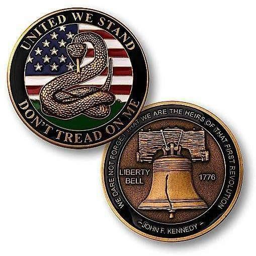 OPSGEAR:Don't Tread on Me - Liberty Bell Challenge Coin