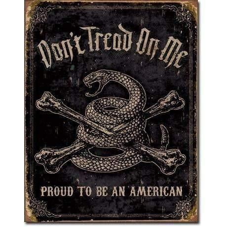 OPSGEAR:Don't Tread On Me - Proud American Vintage Tin Sign