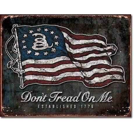 OPSGEAR:Don't Tread On Me - Vintage Flag Tin Sign