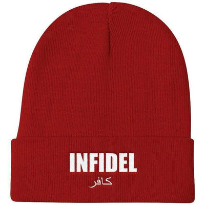 OPSGEAR:Embroidered INFIDEL Knit Beanie