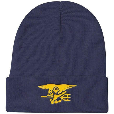 OPSGEAR:Embroidered Navy SEAL Trident Knit Beanie