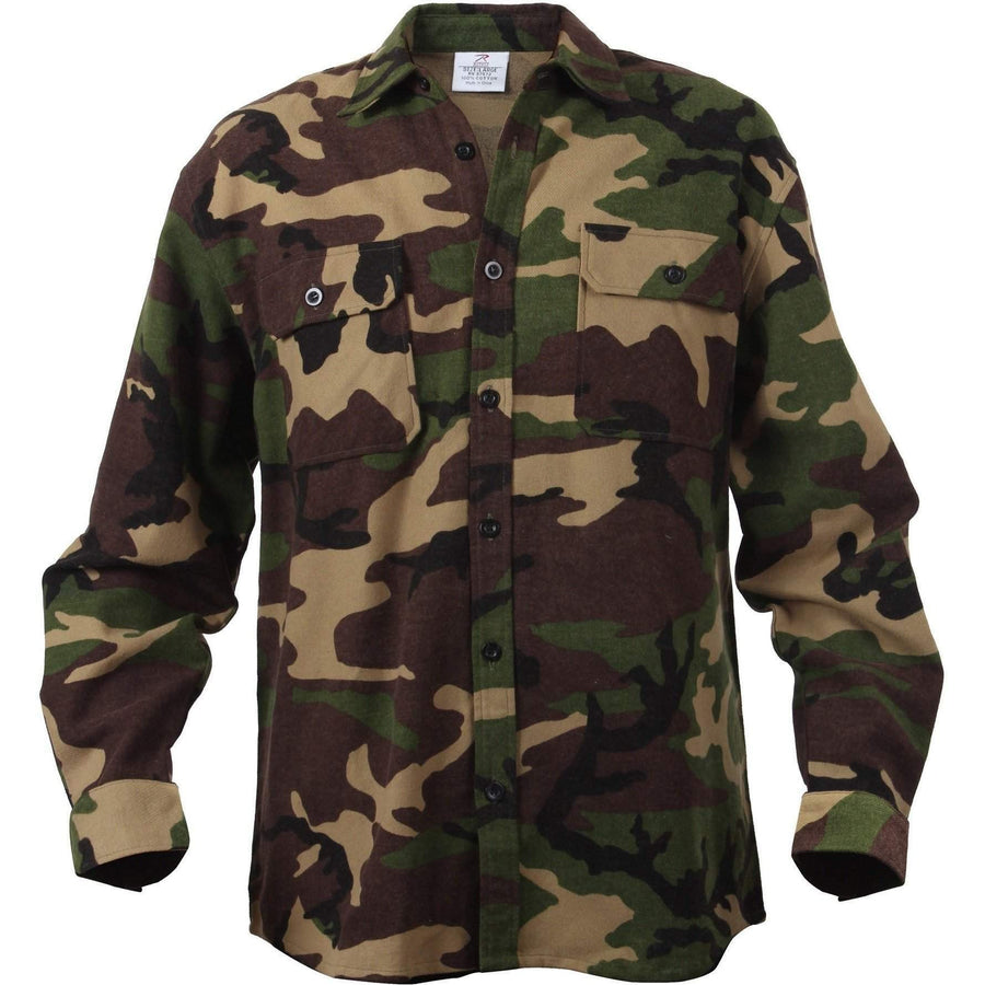 OPSGEAR:Extra Heavyweight Camo Flannel Shirts - Rothco