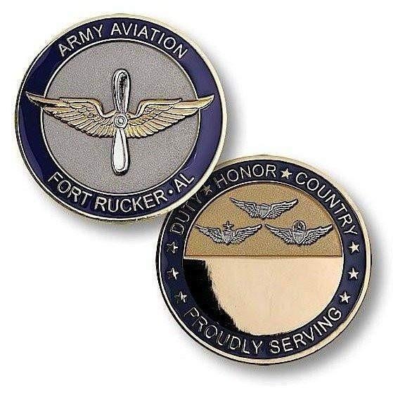 OPSGEAR:Fort Rucker Army Aviation Challenge Coin