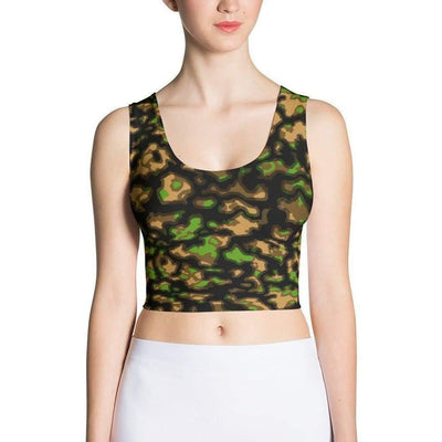 OPSGEAR:German WWII Smoke Spring Camo Sublimation Cut & Sew Crop Top