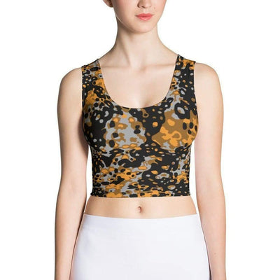 OPSGEAR:German WWII SS PlainTree #6 Autumn CAMO Sublimation Cut & Sew Crop Top