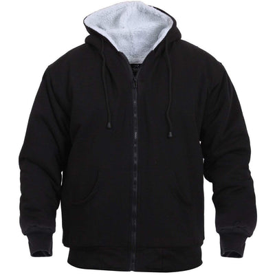 OPSGEAR:Heavyweight Sherpa Lined Zippered Sweatshirt - BLACK - Rothco