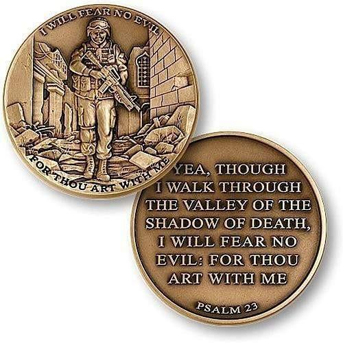 OPSGEAR:I Will Fear No Evil Coin - Psalm 23