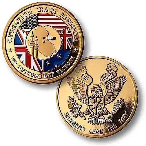 OPSGEAR:Iraqi Freedom Rangers Challenge Coin - MerlinGold