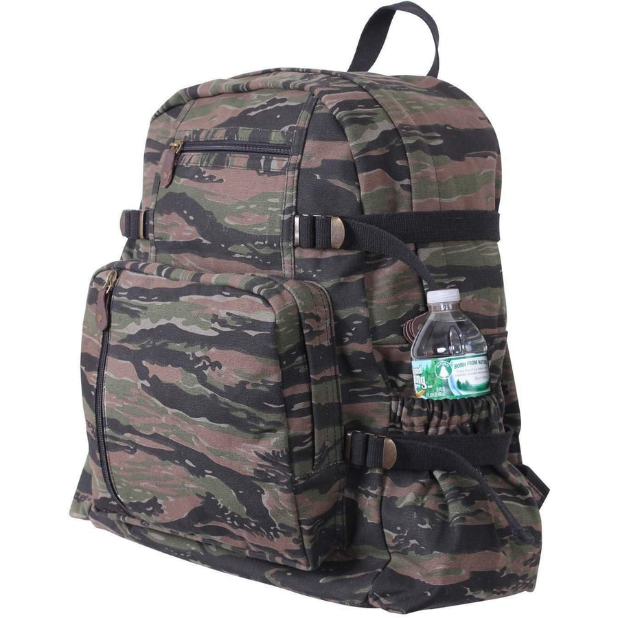 OPSGEAR:Jumbo Vintage Canvas Backpack - Jungle Tiger Stripe - Rothco
