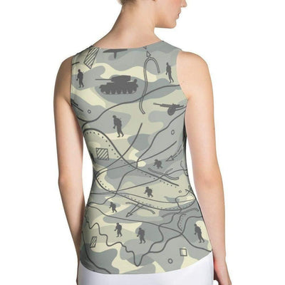 OPSGEAR:Military Battle Field CAMO Sublimation Cut & Sew Tank Top