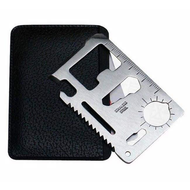 Mini Stainless Steel Multi Pocket 11 in 1 Credit Card Tool - OPSGEAR