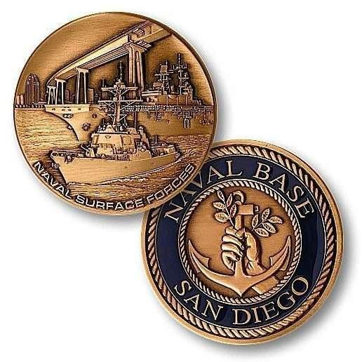Naval Station San Diego Challenge Coin - OPSGEAR