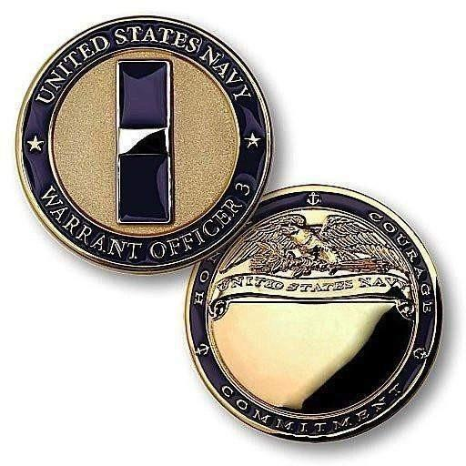 Navy Warrant Officer 3 Challenge Coin - OPSGEAR