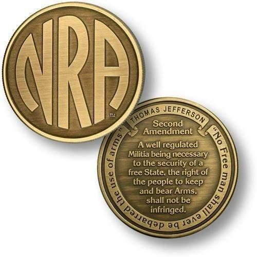 NRA Monogram - Second Amendment - Bronze Antique Challenge Coin - OPSGEAR