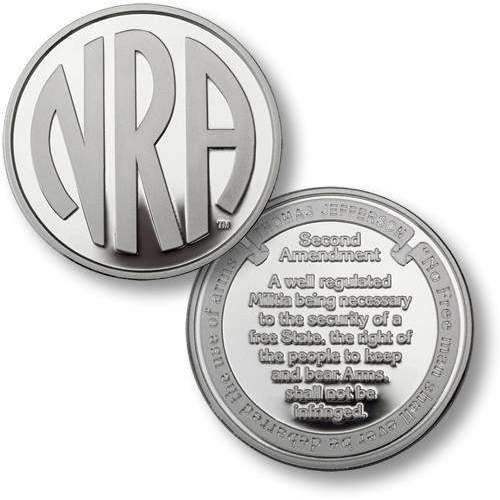 NRA Monogram, Second Amendment Silver Challenge Coin - OPSGEAR