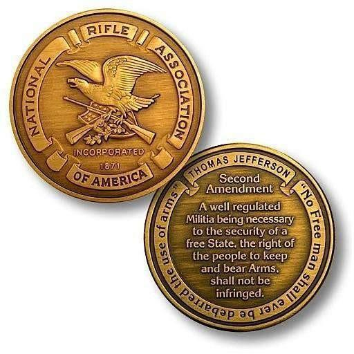 NRA Seal - Second Amendment - Bronze Antique Challenge Coin - OPSGEAR