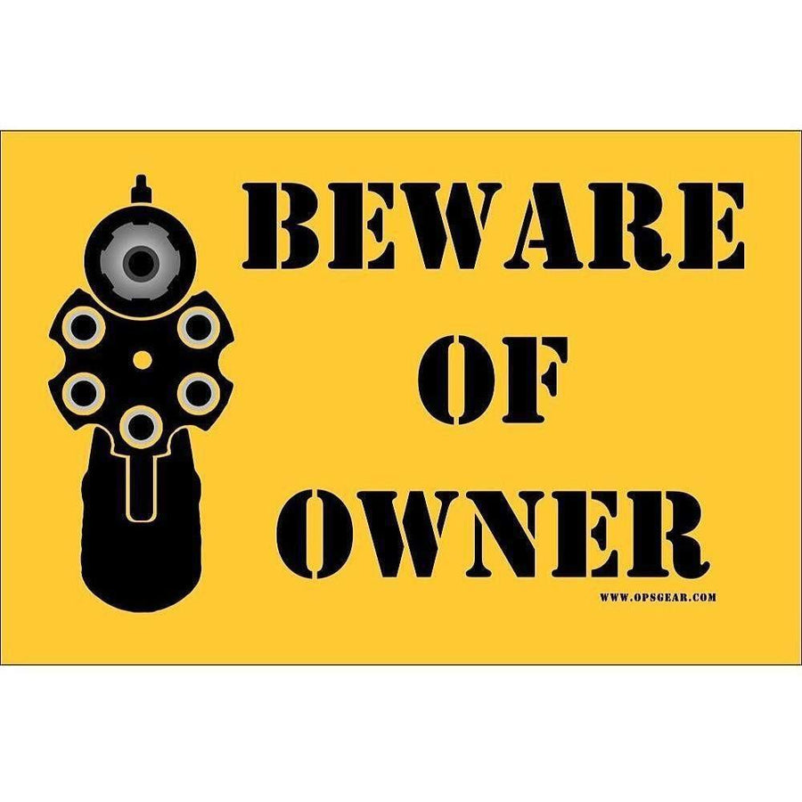 "OPSGEAR Beware of Owner Decal - 4"" x 6"" - OPSGEAR"