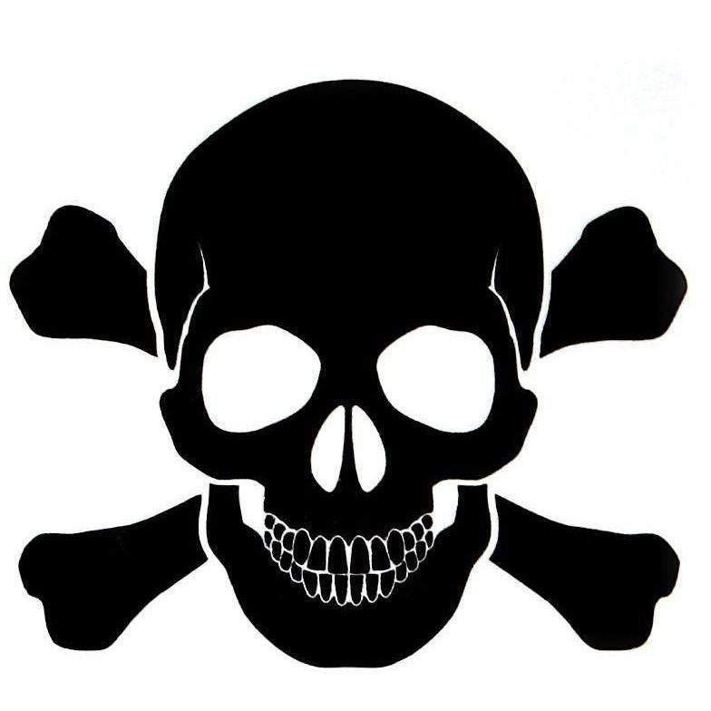 "OPSGEAR Black Skull and Bones Decal - 3"" x 3"" - OPSGEAR"