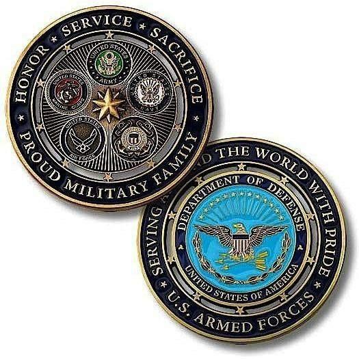 Proud Military Family Challenge Coin - OPSGEAR