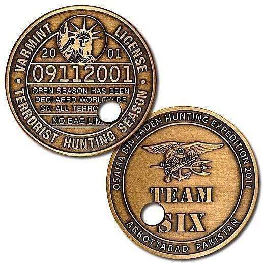 """Punched Ticket"" Osama bin Laden Challenge Coin - OPSGEAR"
