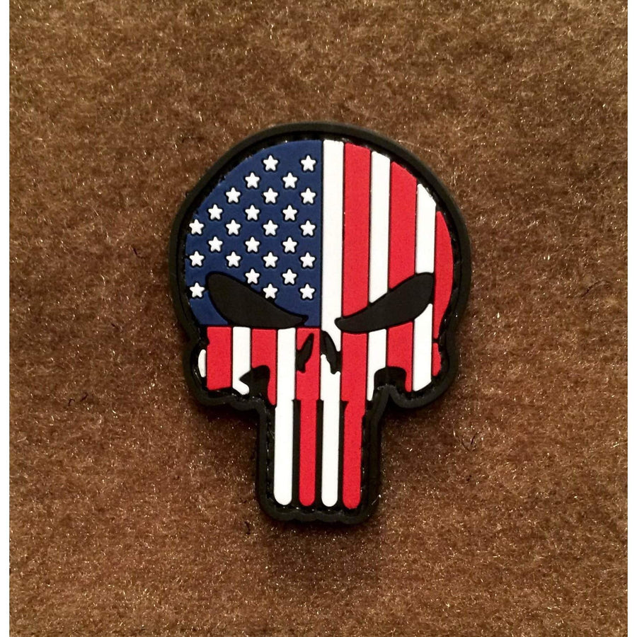 Punisher American Flag PVC Morale Patch - OPSGEAR