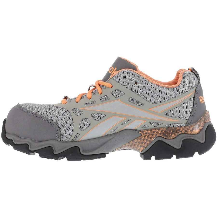 Reebok Beamer - Women's Seamless Athletic Oxford - Light Grey with Peach Trim - OPSGEAR