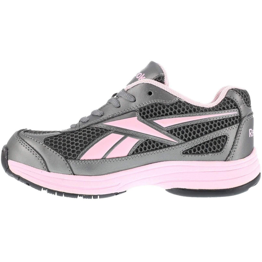 Reebok Women's Athletic Cross Trainer - Pewter with Pink Trim - OPSGEAR