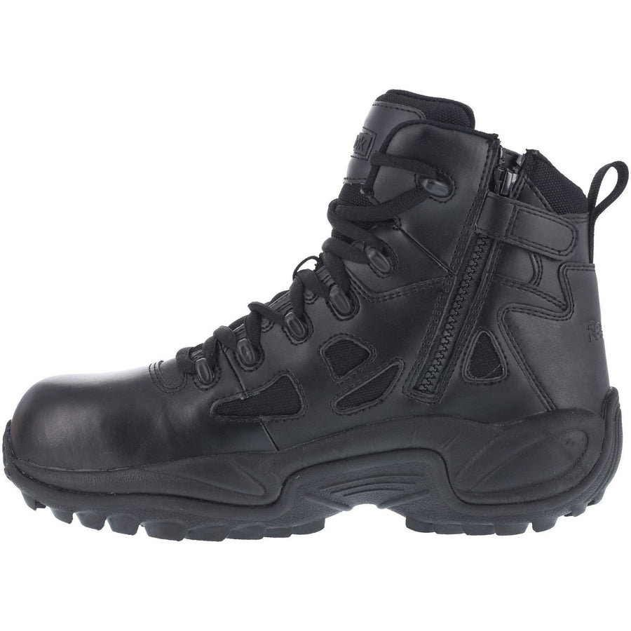 "Reebok Women's Stealth 6"" Boot with Side Zipper - Black - OPSGEAR"
