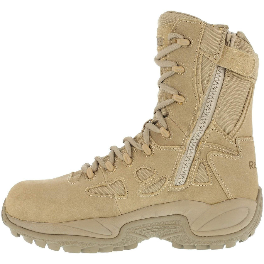 "Reebok Women's Stealth 8"" Boot with Side Zipper - Desert Tan - OPSGEAR"